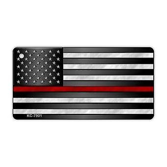 Avaimenperä, metalli, ohut punainen viiva Yhdysvaltain lippu (palolaitos)
