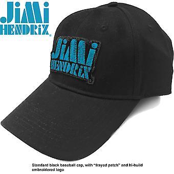 Jimi Hendrix - Blue Stencil Logo Men's Baseball Cap - Black