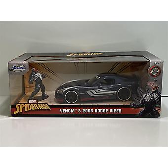 Gift och 2008 Dodge Viper Spiderman 1:24 Skala Jada 31750