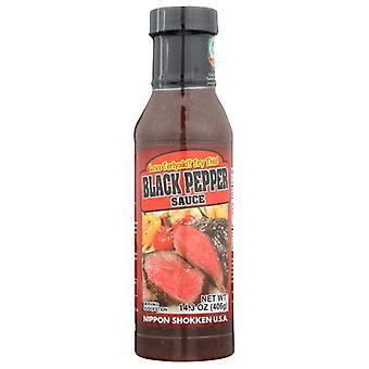 Nippon Shokken Usa Sauce Sort Peber, sag af 12 X 14,3 Oz
