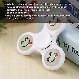 Cute Smiling Face Luminous Abs Hand Spinner Relieve Stress Finger Spinner