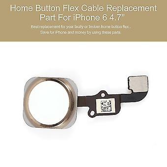 Home Button Flex Cable Touch Id Sensor Parte di ricambio per iphone 6 4.7''