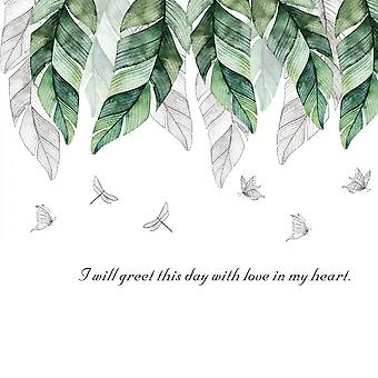 Hand-painted Banana Leaves Wall Sticker Decals (size:111cm X 60cm)