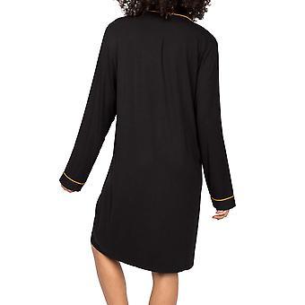 Cyberjammies Annie 9014 Dames Zwart Modal Nachthemd