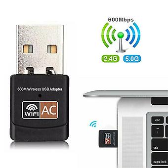 600Mbps kétsávos USB WiFi vezeték nélküli Dongle AC600 Lan hálózati adapter 5 GHz 2,4 GHz