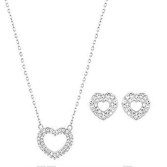 Swarovski juveler halsband & örhängen sätter hjärtan 5074346