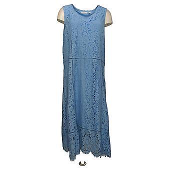 Isaac Mizrahi Live! Abito Regular Floral Knit Pizzo Midi Abito Blu A376663