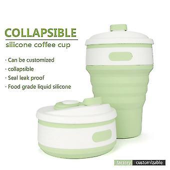 Stilvolle zusammenklappbare Silikon Faltklappe versenkbare Becher Tasse tragbar für den Außenbereich
