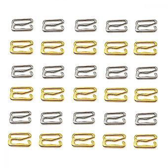 Bra Strap Hooks, 100 Pcs Gold Silver Bra Rings Sliders Used To Adjust The Shoulder Strap Of Underwear And Suspender Dress