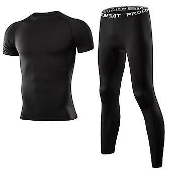 Abbigliamento Uomo Abbigliamento Sportivo Palestra Fitness Compressione Tute Running Set Sport