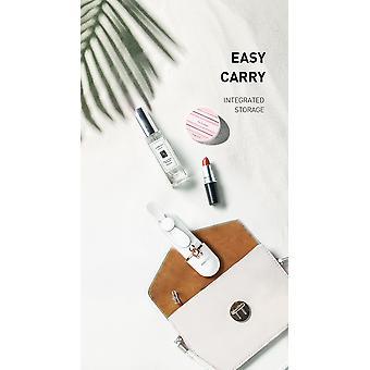 Recci Mini Käsituuletin Kokoontaitettava - Valkoinen vaaleanpunaisella