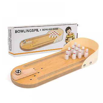 Desktop Mini Bowling Spiel Set-einzigartiger Roman Schreibtisch Spielzeug Eltern-Kind Interaktives Brettspiel für Kleinkinder-Spaß Familienbrettspiel mit Holz desktop