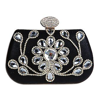 Crystal Flower Evening Wedding Party Clutch Bag