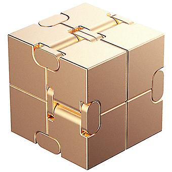 Comprimeer vingertoppen metalen kubus legering educatief speelgoed