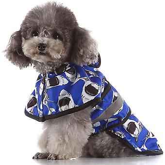 Dog's Hooded Raincoat Poncho,pet Rain Jacket With Reflective Strip Pet Waterproof Slicker Clothes For Small Medium Dogs Puppy With Leash Hole
