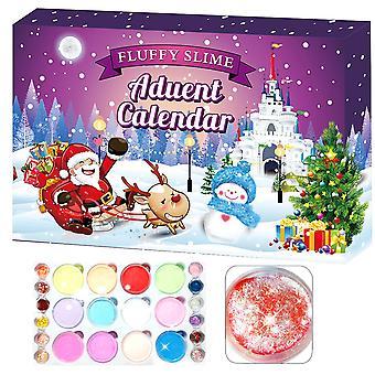 24 Stück, Plastilin Kristall Ton Weihnachts-Countdown