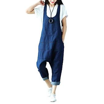 Woman Oversized Overalls Casual Demin Pants