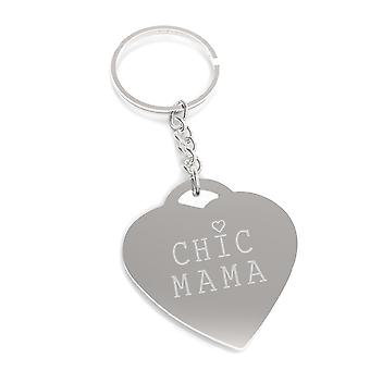 Chic Mama Cute Design Nickel Key Chain Unique Mothers Day Gift Idea