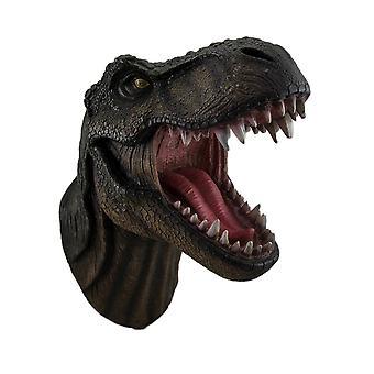 Jurassic Jaws knurrend Tyrannosaurier Rex Wand montiert Dinosaurier-Kopf-Skulptur