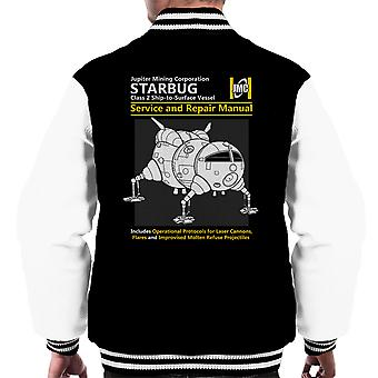 Red Dwarf Starbug Service And Repair Manual Men's Varsity Jacket