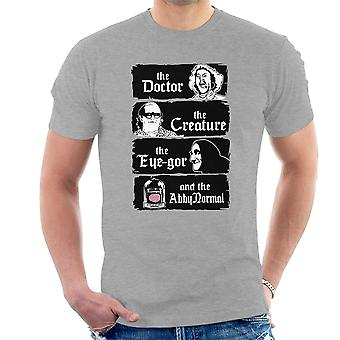 The Doctor The Creature Young Frankenstein Men's T-Shirt
