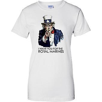 Haluan sinun kuninkaallisen merijalkaväen - Cool rekrytointi juliste - naisten T-paita