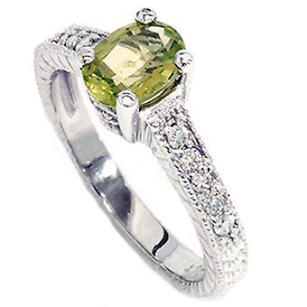 3 / 4ct ovalen Peridot DiamantVerlobungsring Jubiläum