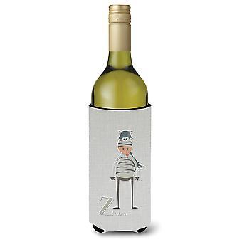 Alphabet Z for Zebra Wine Bottle Beverge Insulator Hugger