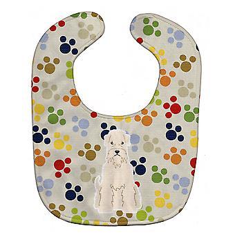 Каролинских сокровища BB5890BIB Pawprints Soft покрытием пшеничный терьер ребенок нагрудник