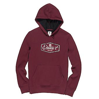 Element Stevson Pullover Hoody i Napa Red