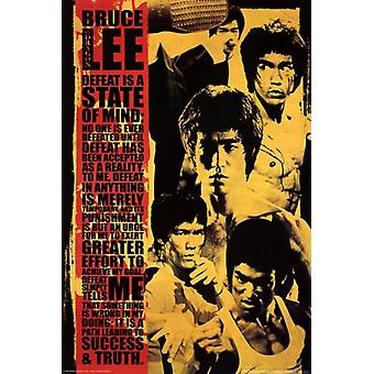 Bruce Lee - Montage Poster Poster Print