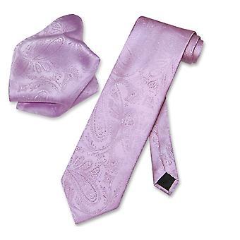 Vesuvio Napoli PAISLEY NeckTie Handkerchief Matching Men's Neck Tie Set