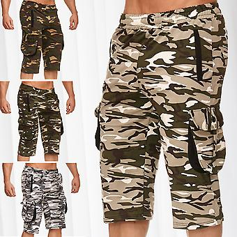 Men's Cargo Bermuda Pants Elasticated Jogger Sweat Camouflage Jogging Shorts
