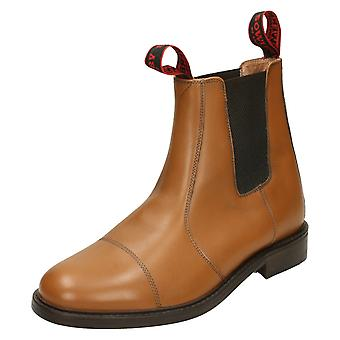 Mens Sowerby All Leather Chelsea Boot with Oxford Front 'Worcester'
