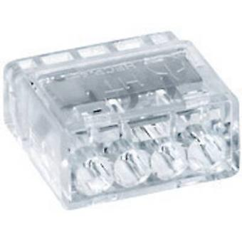Connector clip rigid: 0.5-2.5 mm² Number of pins: 4 HellermannTyton HECP-4 1 pc(s) Transparent