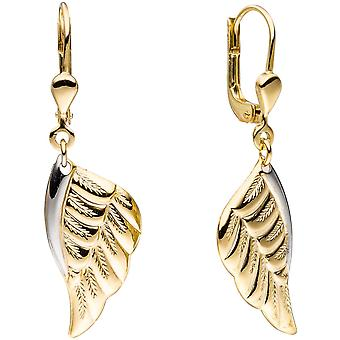 Boutons wings Angel Wings 333 bicolor gold yellow gold earrings