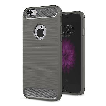 Apple iPhone 6 / 6s täcker TPU case silikon täcka mobila stötfångare kol optik grå