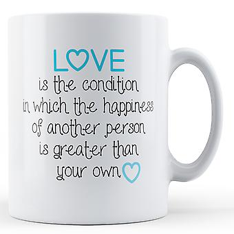 Decorative Writing Love Is The Condition Printed Valentines Day Mug