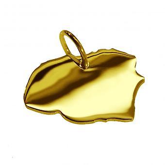 Hänge hängsmycken i guld gul-guld karta i form av FÖHR