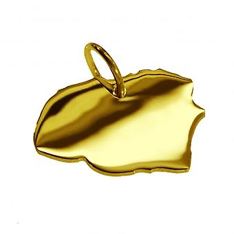 Pendentifs pendentif en or jaune-or carte sous la forme de FÖHR