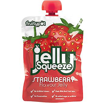 Fruitypot Strawberry Jelly Squeeze Pouches