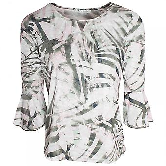 Betty Barclay 3/4 Bell Sleeve Tropical Print Top