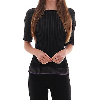 PS Paul Smith Knitted Lurex Ribbed Top