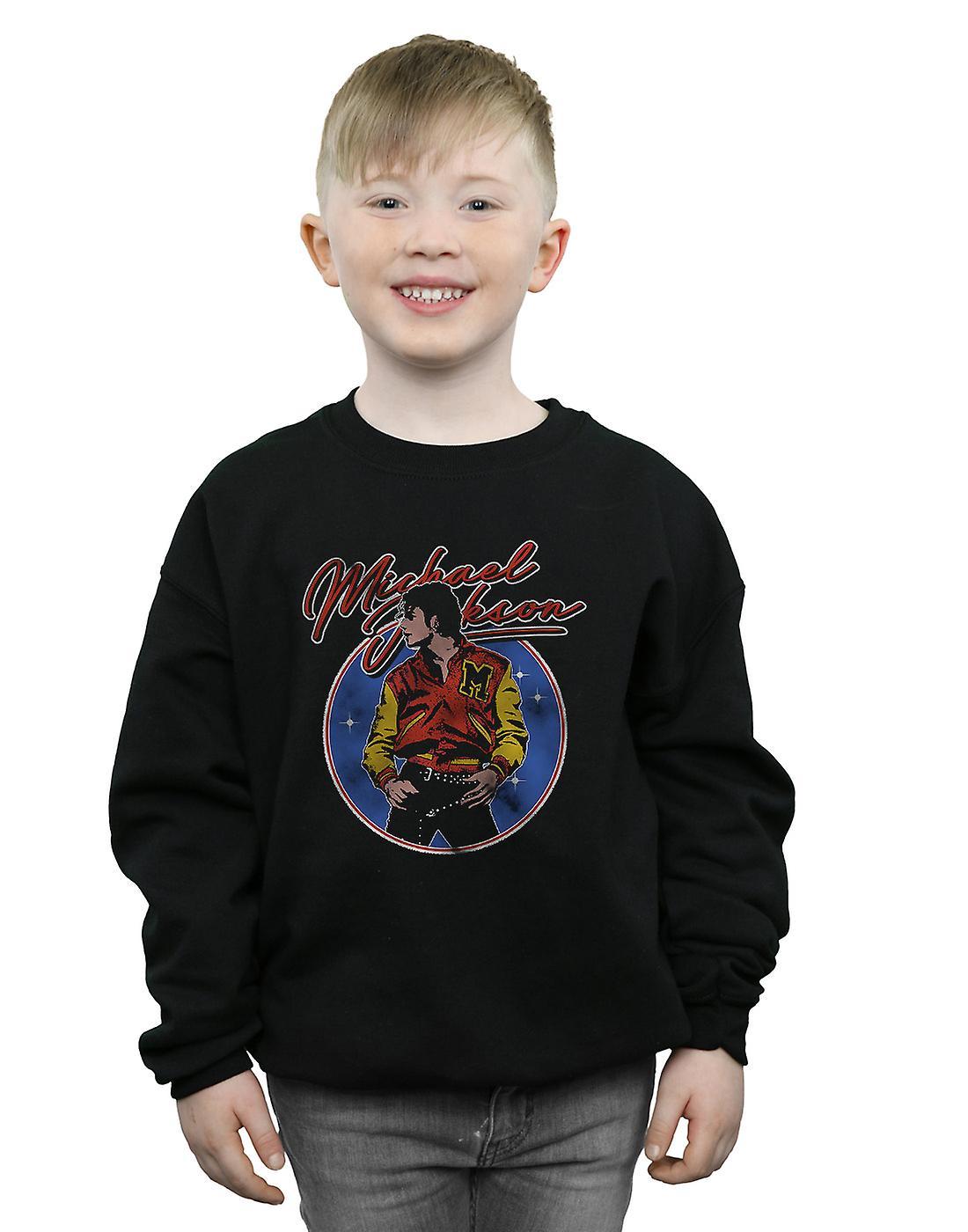 Michael Jackson Boys Circle Thriller Crest Sweatshirt