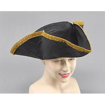Tricorn Hat. Sort nødstedte Look.