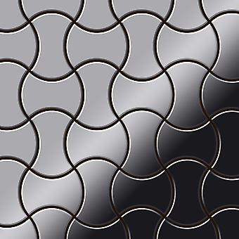 Metal mosaik Rustfrit stål ALLOY Infinit-S-S-MM
