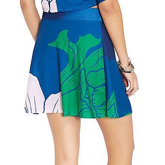 adidas Originals Womens Trefoil Floral Engraving A-Line Cut Fashion Mesh Skirt
