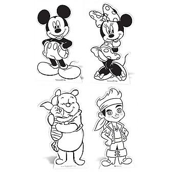 Disney Colour and Keep Cardboard Cutouts / Standups / Standees - includes Mickey Mouse, Minnie Mouse, Winnie The Pooh and Jake