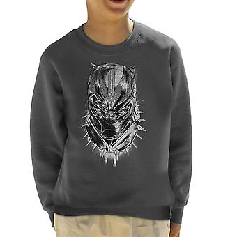 Marvel Black Panther Comic Book Mask Kid's Sweatshirt