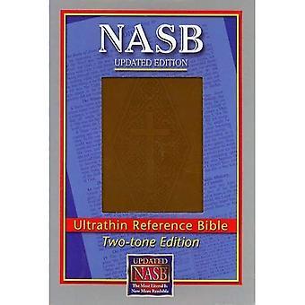 New American Standard Bible Ultrathin viite: Tekee päivityksen ruskea Diamond leima LeatherTex